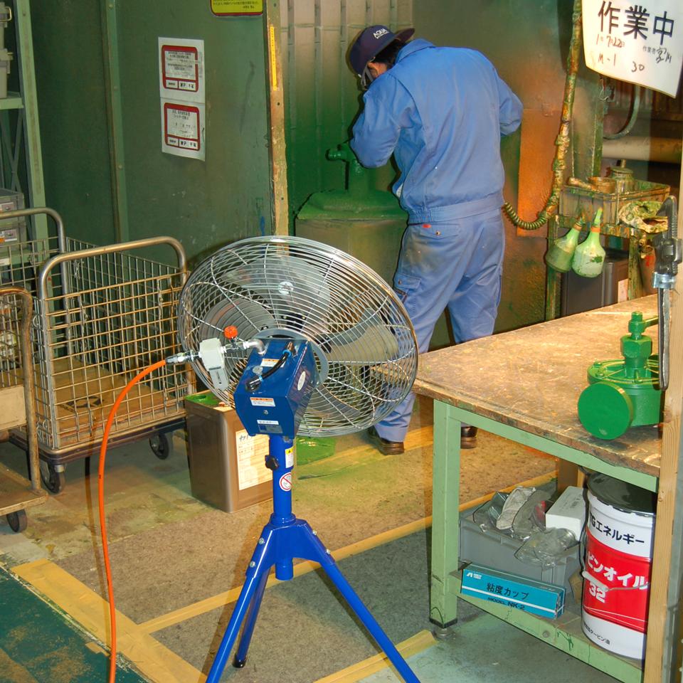無給油 エアモーター式工場扇の画像3枚目
