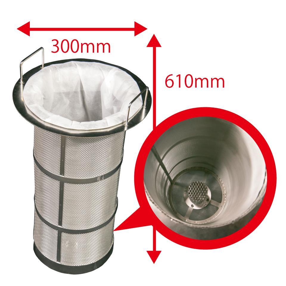 エア式ドラム缶用ろ過クリーナーの不織布フィルター画像