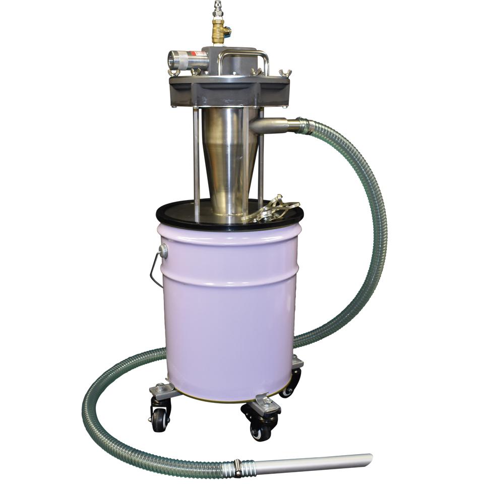 ペール缶・ドラム缶用サイクロン式エアバキュームクリーナー APPQO-CY25-SET