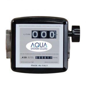 流量計 簡易機械式〈灯油・軽油用〉〈オイル用〉(MK33-25D/25OL)